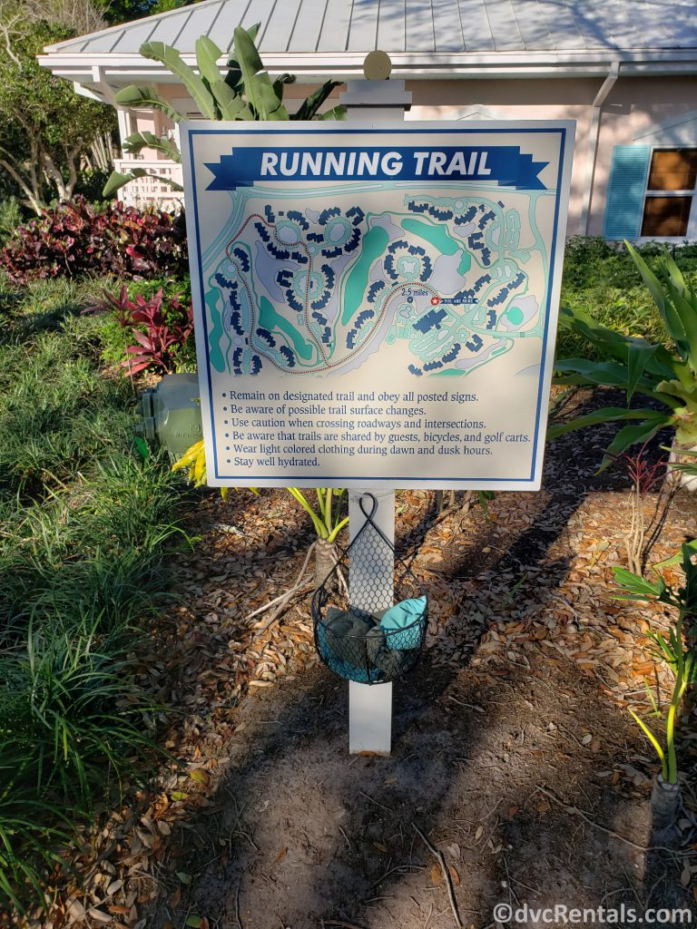 Map of a Running Trail at Disney's Old Key West