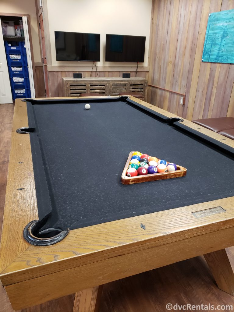 Billiards table at Disney's Old Key West Community Hall