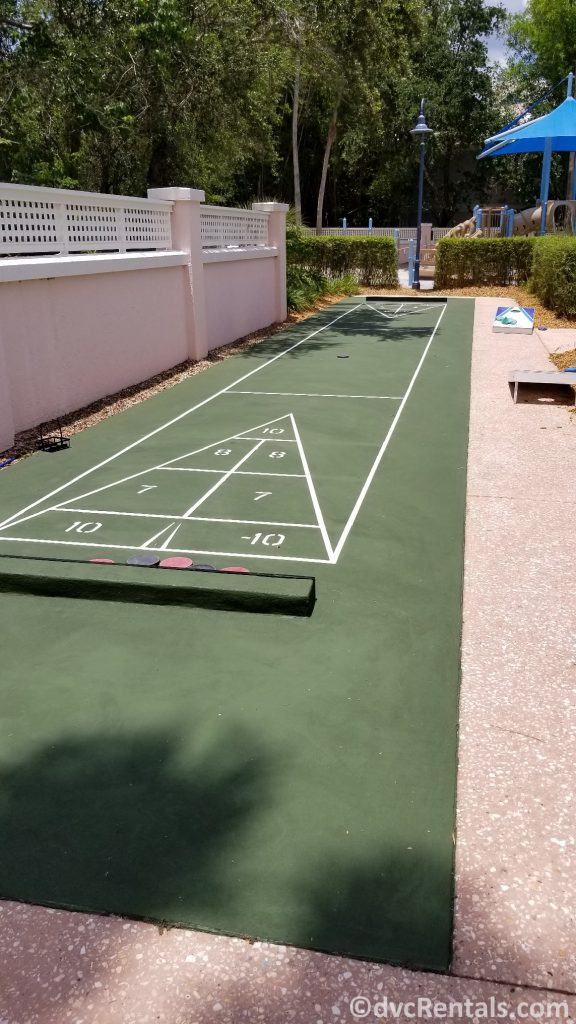 Shuffleboard court at Disney's Old Key West