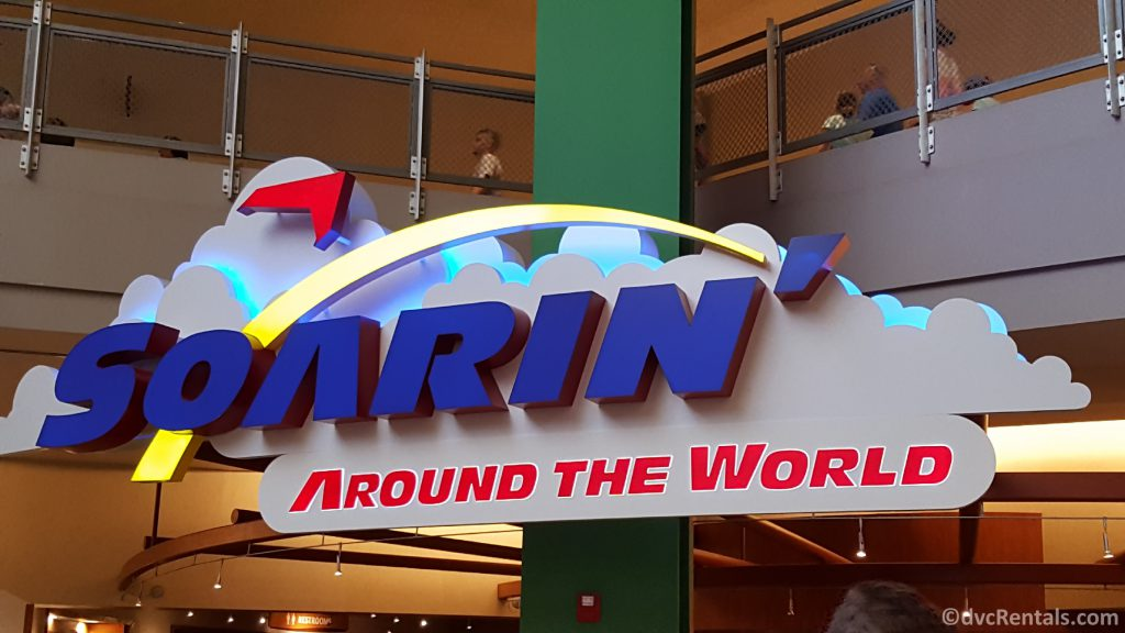 sign for Soarin' Around the World