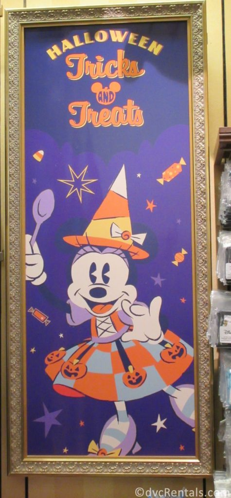 Minnie Mouse Halloween Sign
