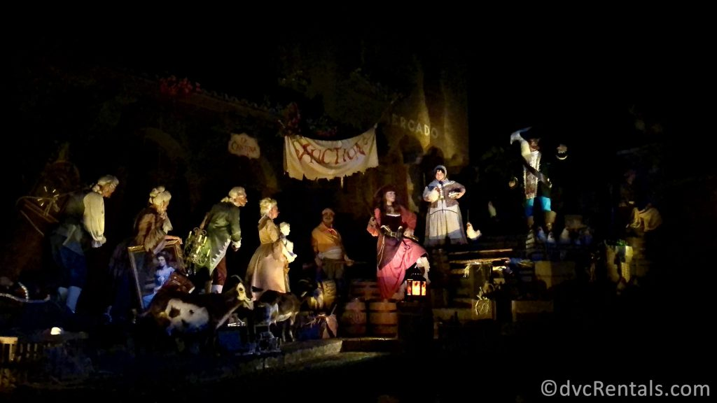 Auction scene from the Pirates of the Caribbean
