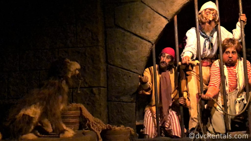 jail scene from the Pirates of the Caribbean