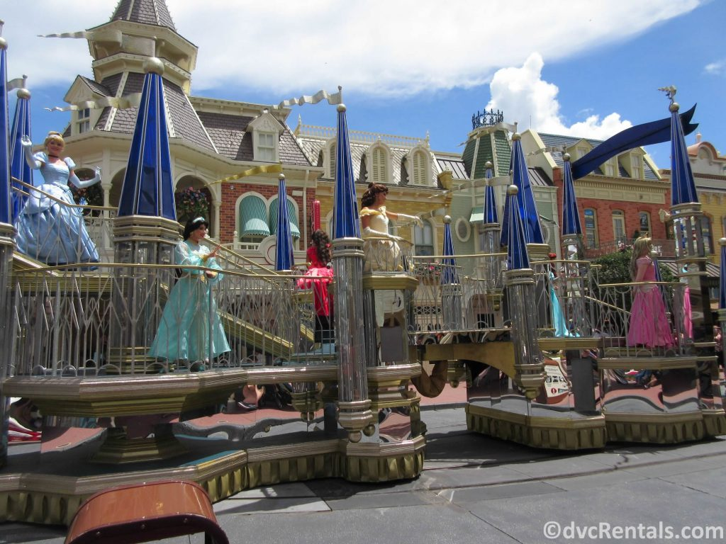 Disney princesses in a Character Cavalcade