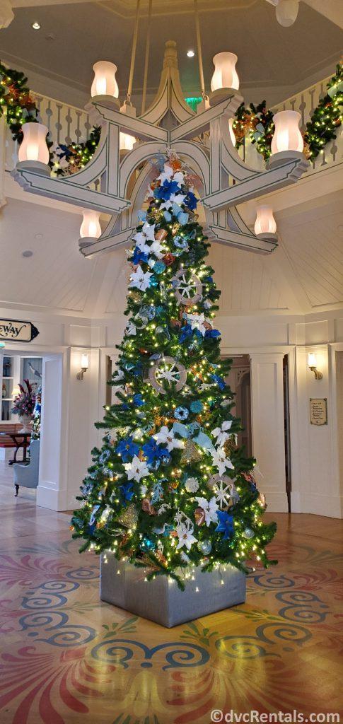 Christmas tree at Disney's Beach Club Villas