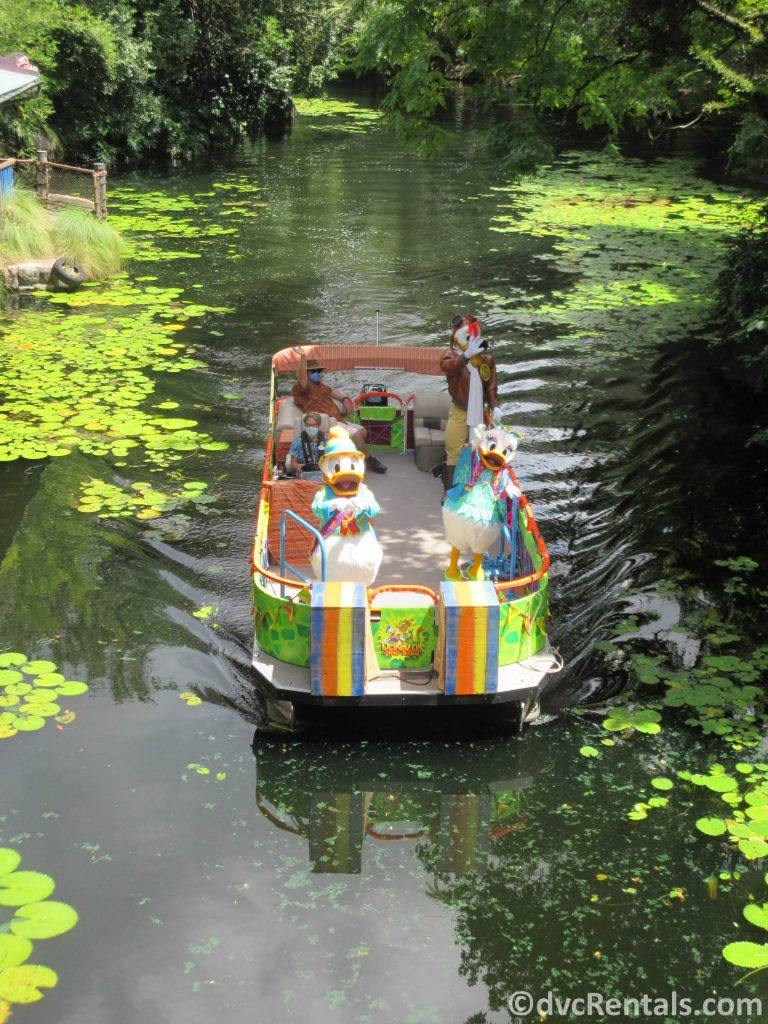 Disney's Animal Kingdom boat Character Cavalcade