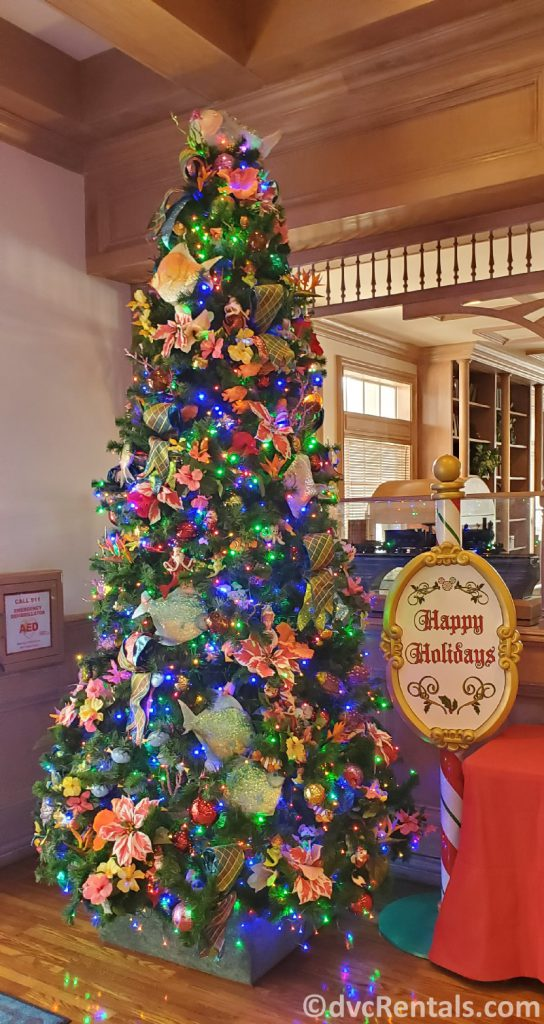 Christmas tree at Disney's Old Key West