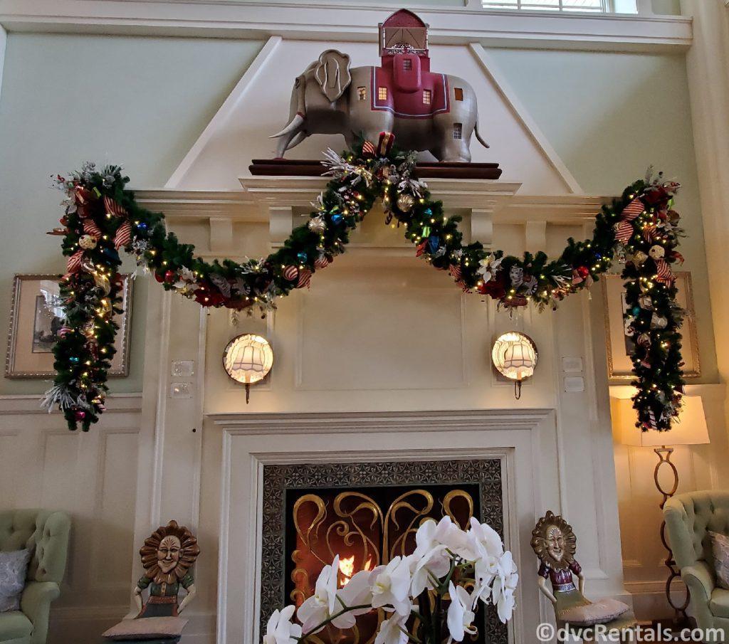 Christmas decorations at Disney's Boardwalk Villas