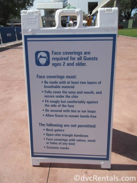 sign at entrance to Epcot