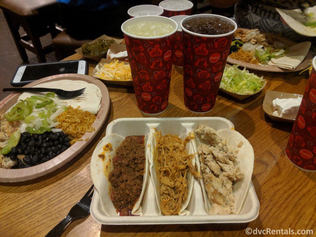 meal options at Pecos Bill Tall Tale Inn & Café at the Magic Kingdom