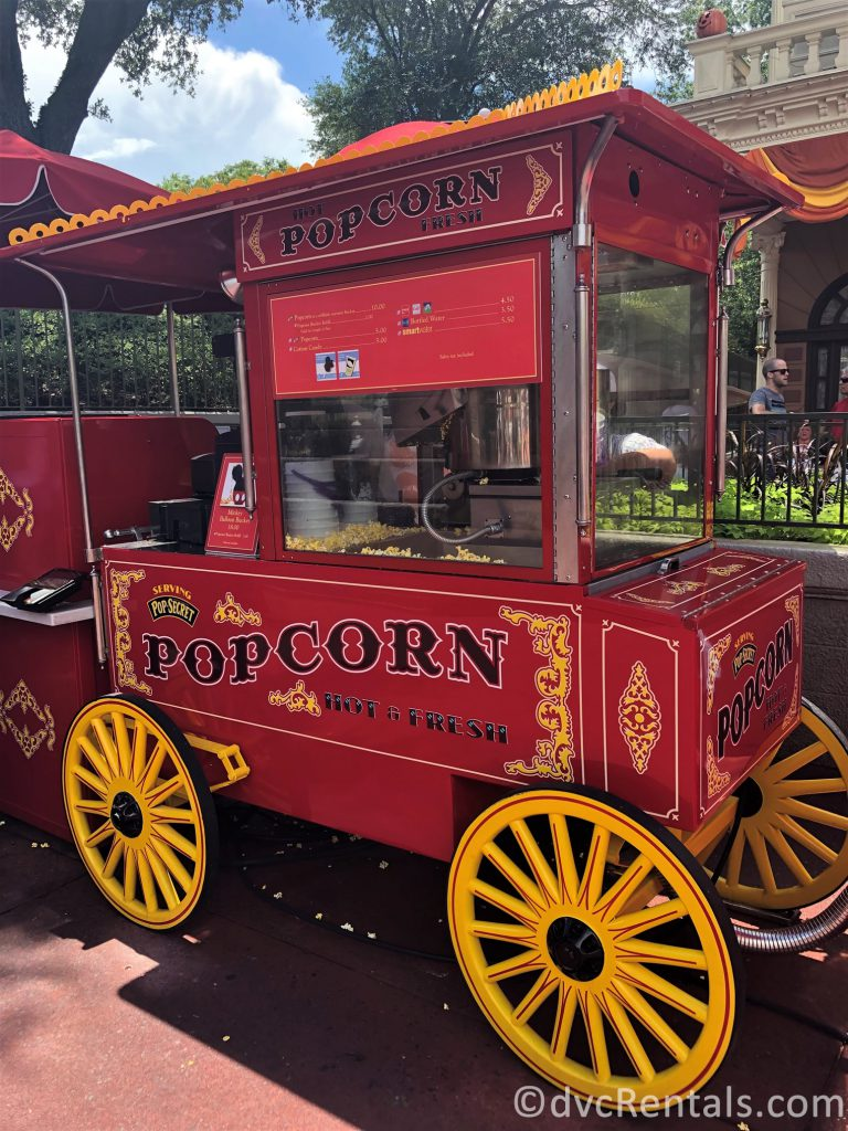 Popcorn cart at the Magic Kingdom