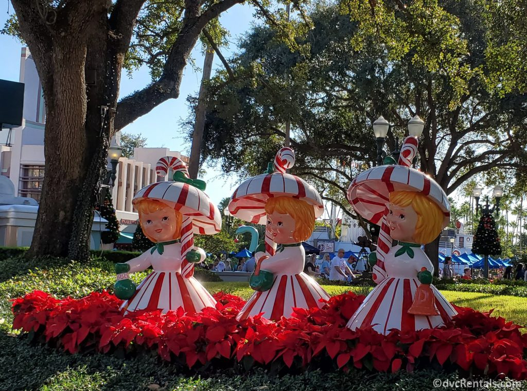 Christmas decorations from Disney's Hollywood Studios