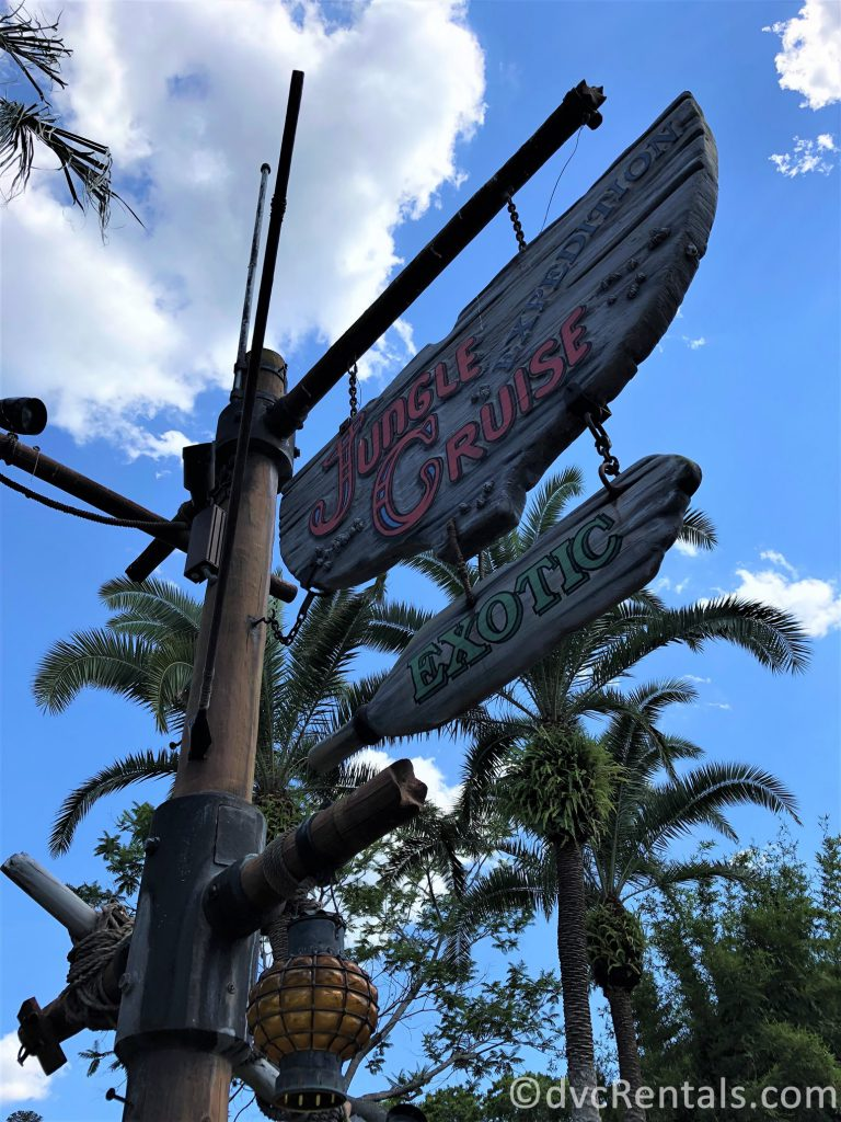 sign for the Jungle Cruise