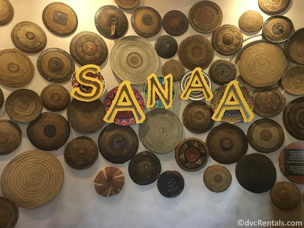 sign for Sanaa Restaurant at Disney's Animal Kingdom Villas