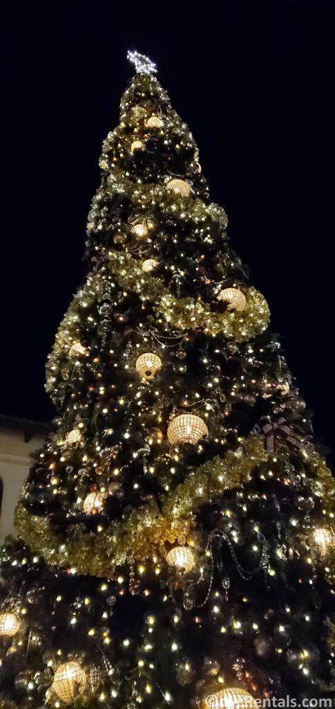 Christmas tree at Disney Springs