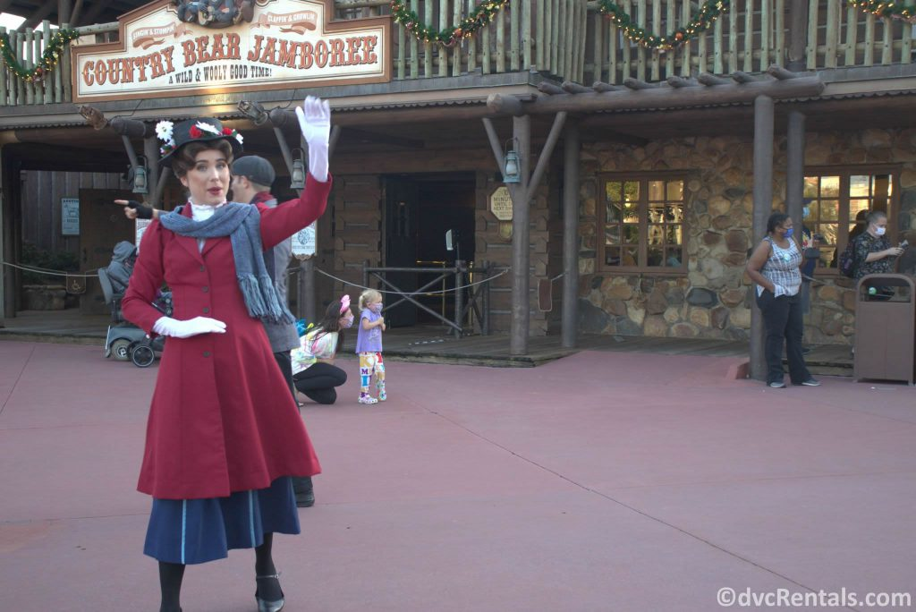 Mary Poppins at the Magic Kingdom