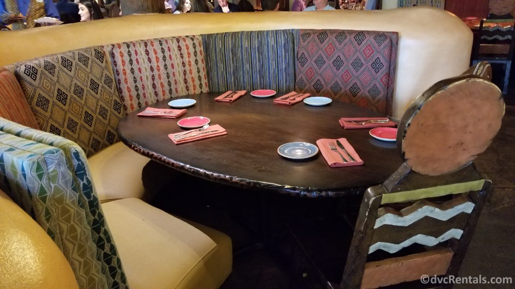 Table and chairs at Sanaa