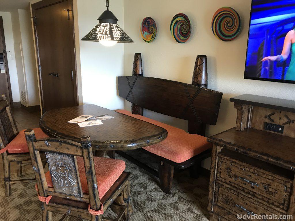 kitchen table in a 1 bedroom Villa at Disney's Animal Kingdom – Jambo House
