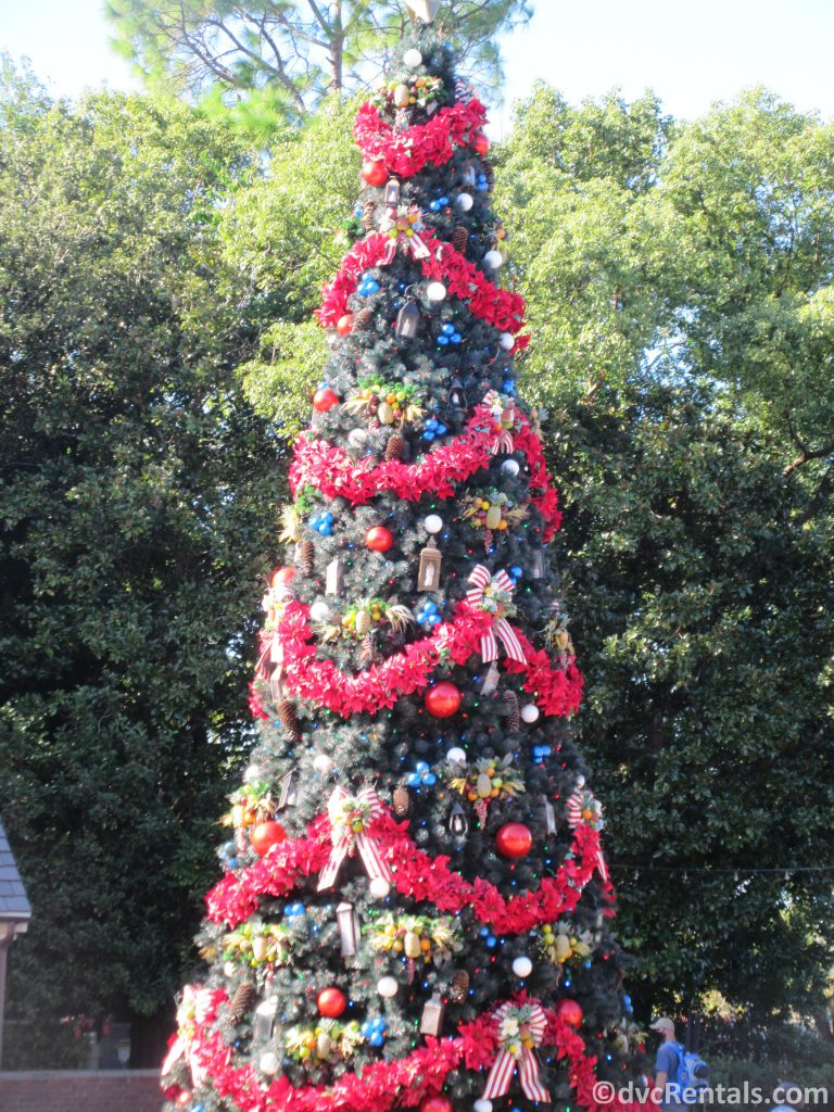 smaller Christmas tree in Epcot