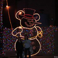 Hidden Mickey Snowman within the Osborne Lights at Disney's Hollywood Studios