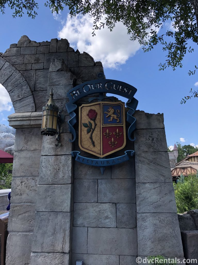 sign for Be Our Guest restaurant at the Magic Kingdom