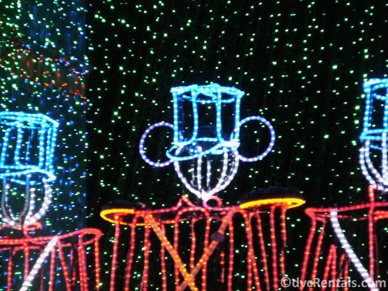 Hidden Mickey Toy Soldier within the Osborne Lights at Disney's Hollywood Studios
