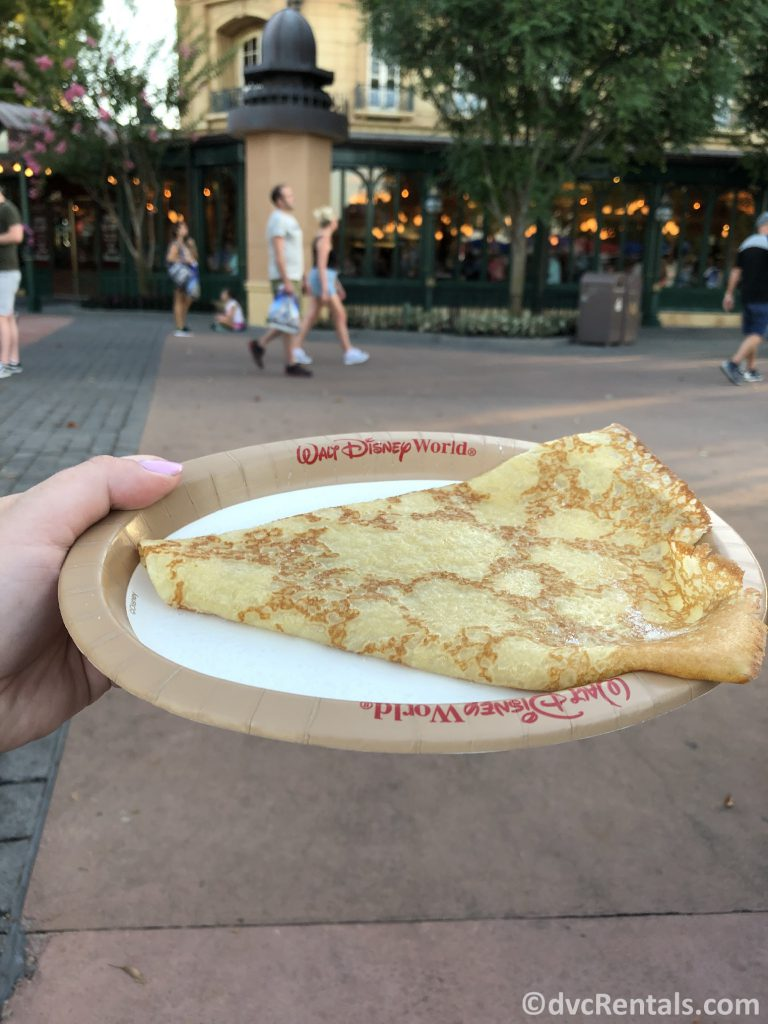 Crepe from the France pavilion at Epcot