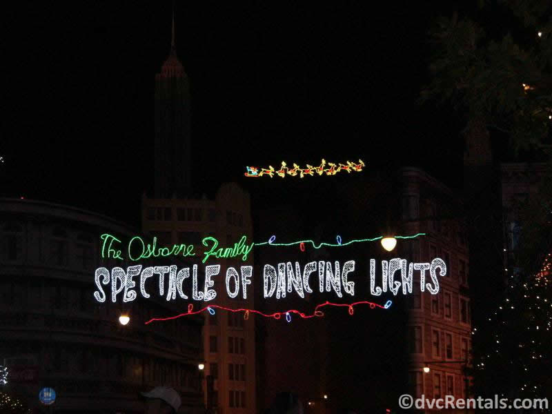 Sign for the Osborne Lights at Disney's Hollywood Studios
