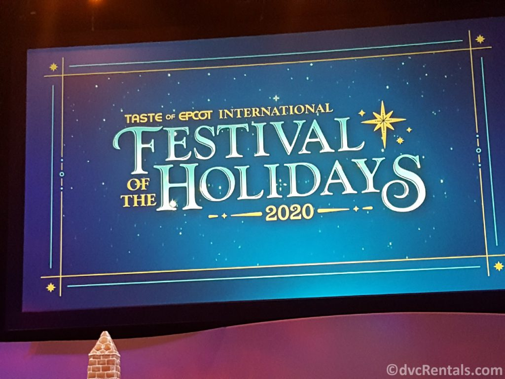 Sign for the Taste of EPCOT International Festival of the Holidays