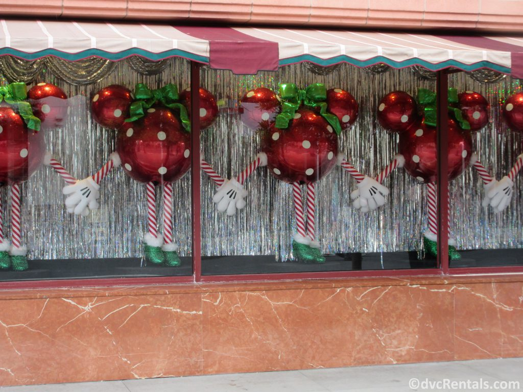 Window displays of Holiday decorations at Disney's Hollywood Studios