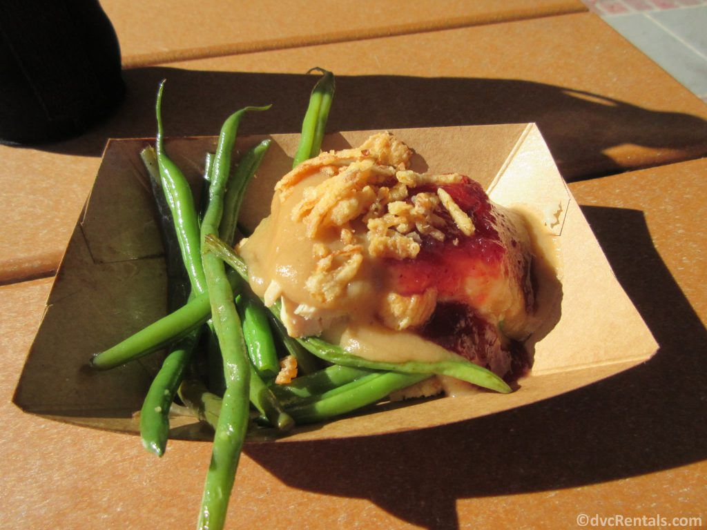 food plate from the Taste of EPCOT International Festival of the Holidays