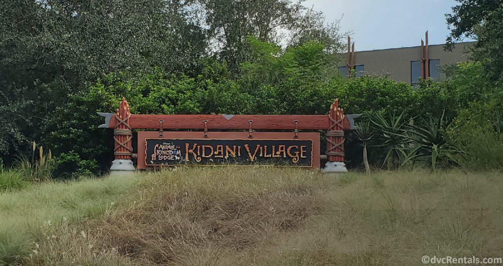 Sign for Disney's Animal Kingdom Villas – Kidani Village