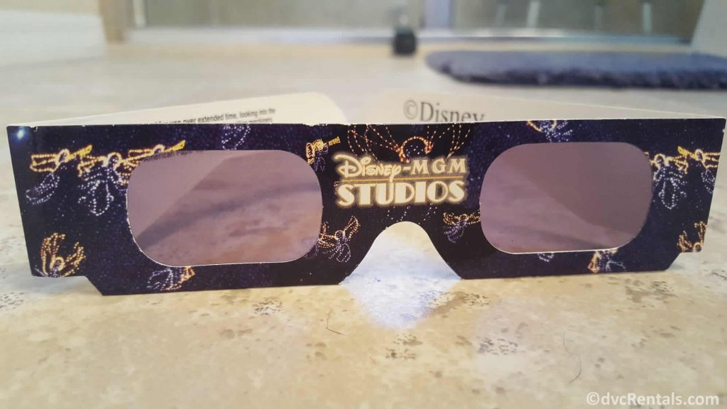 3D glasses for the Osborne Lights at Disney's Hollywood Studios