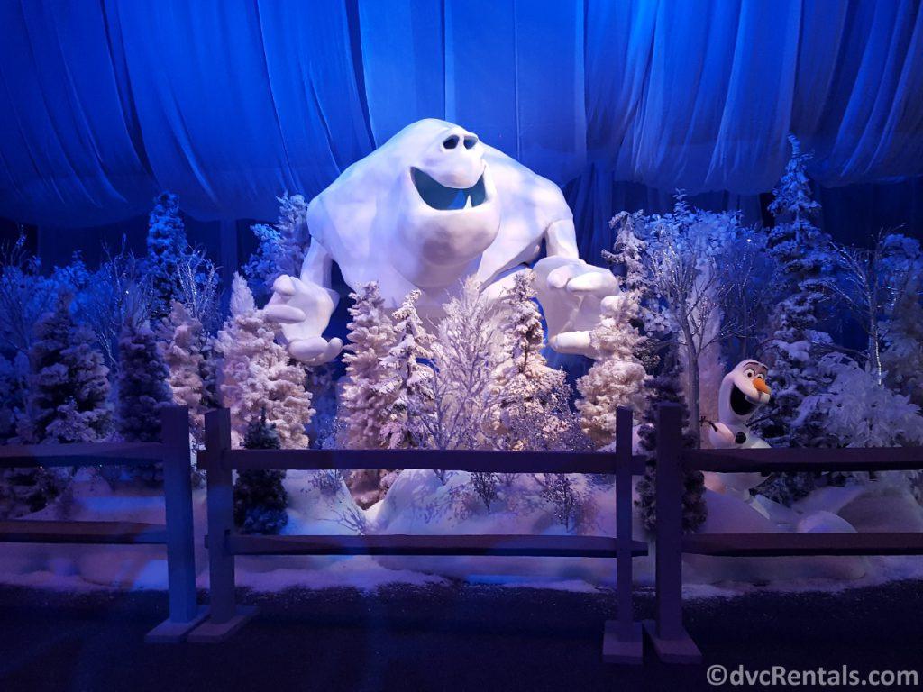 Frozen display at Epcot