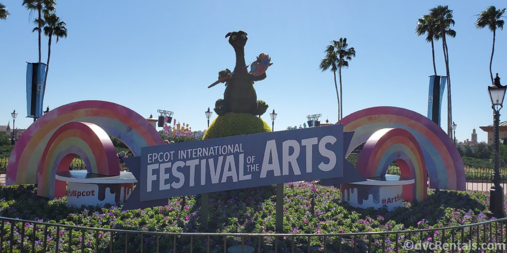 Epcot International Festival of the Arts sign from 2020