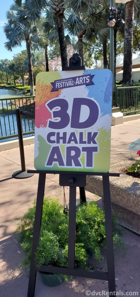 Sign for Chalk Art at the Taste of Epcot International Festival of the Arts