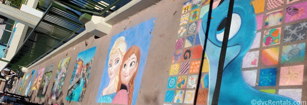 Chalk Art at the Taste of Epcot International Festival of the Arts