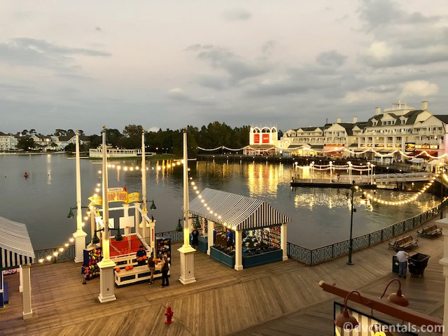 Boardwalk area at Disney's Boardwalk Villas