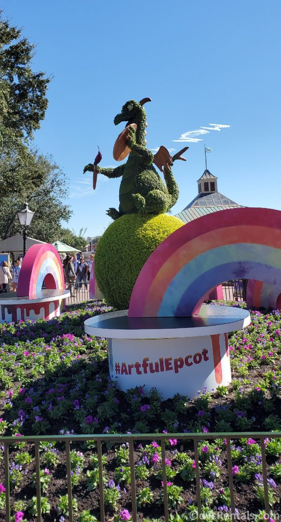 Figment Topiary from the Epcot International Festival of the Arts in 2020