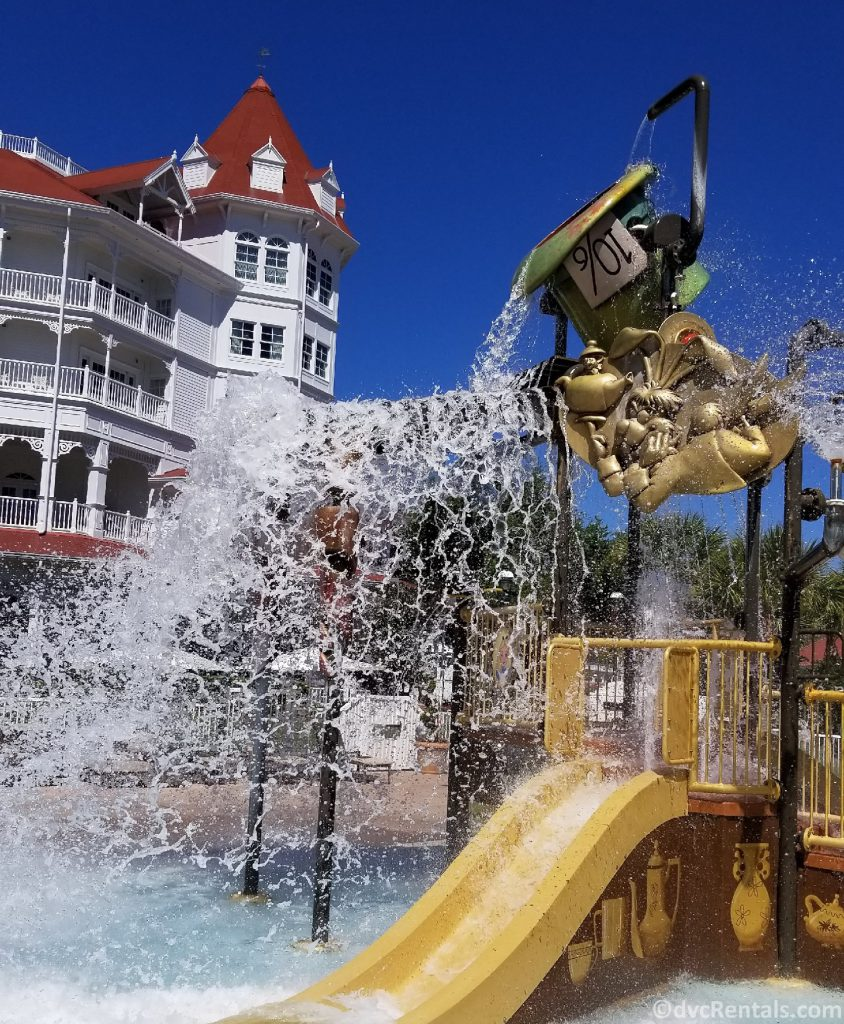 waterplay area at the Villas at Disney's Grand Floridian Resort