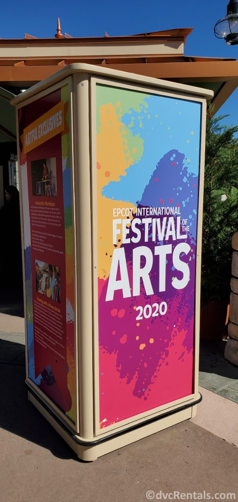 Sign for the 2020 Epcot International Festival of the Arts