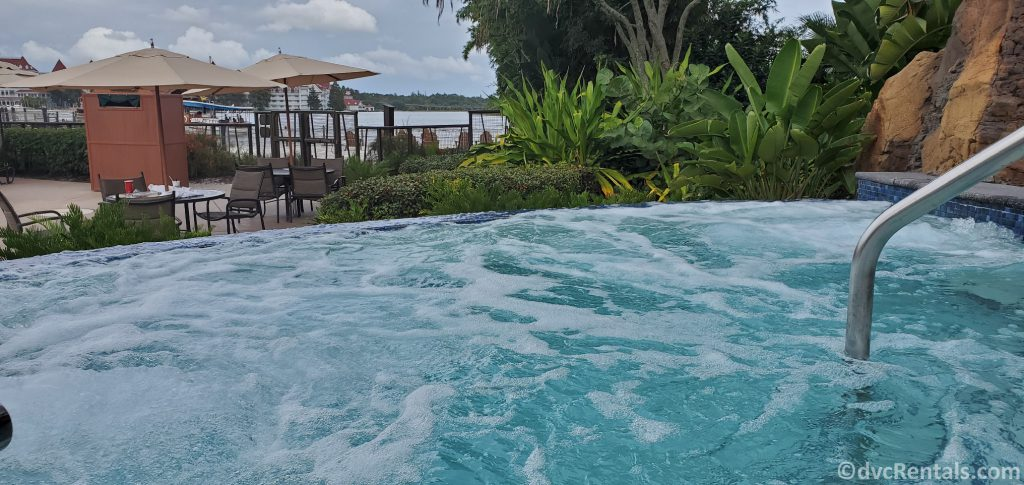 whirlpool spa at Disney's Polynesian Villas & Bungalows