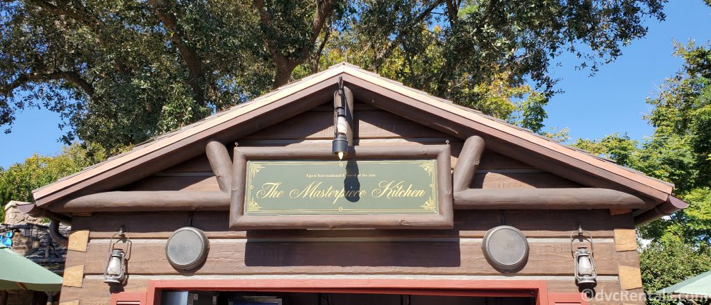 The Masterpiece Kitchen food booth at the Taste of Epcot International Festival of the Arts
