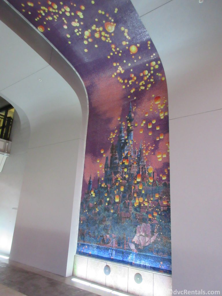 Tangled mural from Disney's Riviera Resort