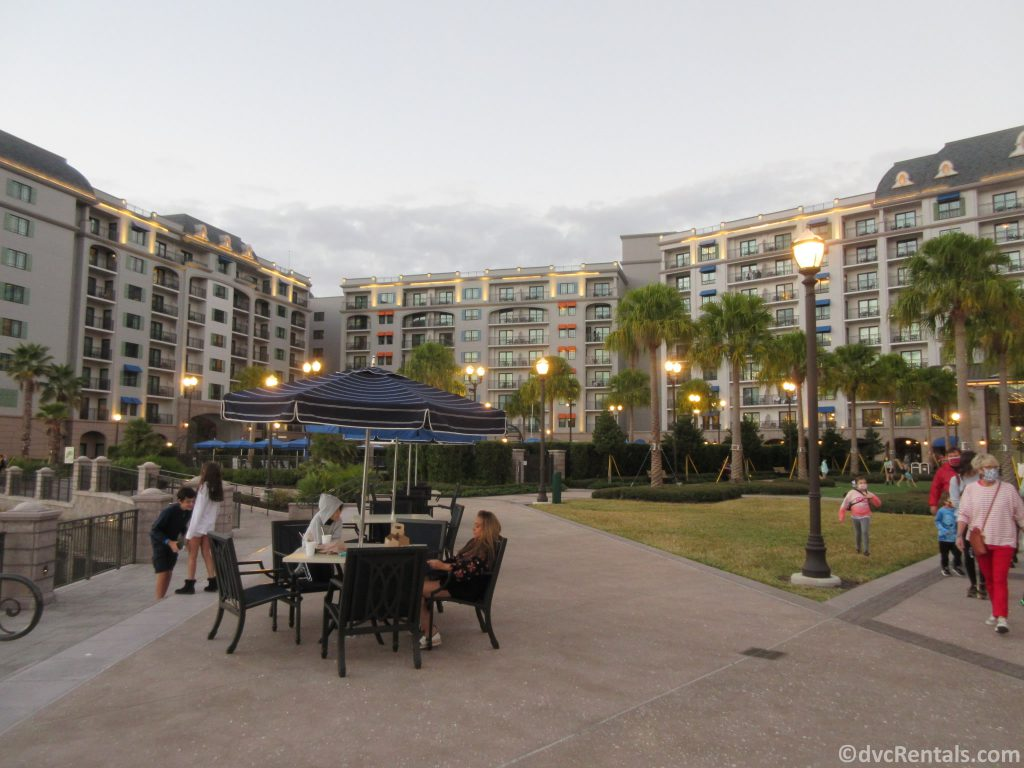 outdoor space at Disney's Riviera Resort