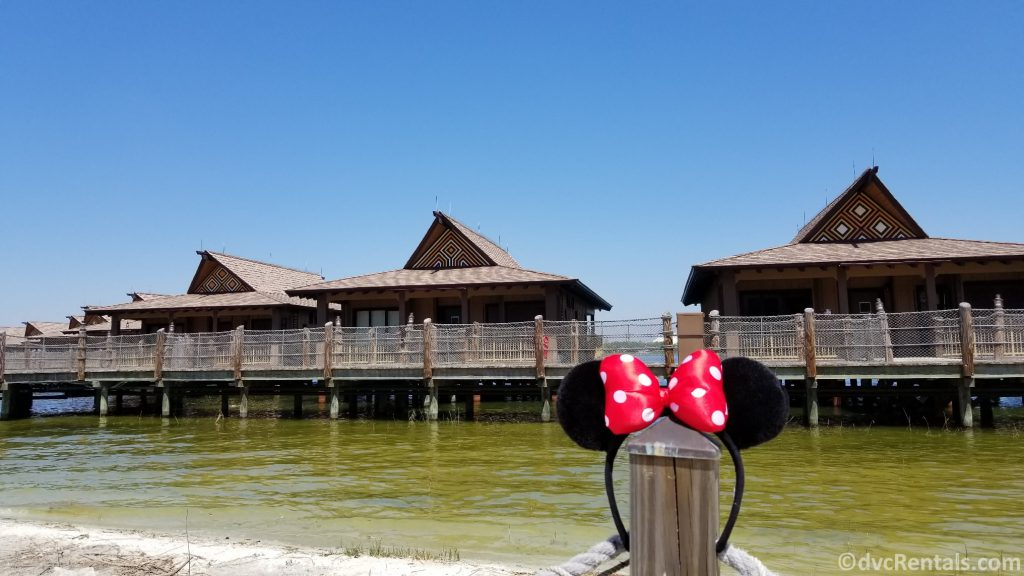 Exterior shot of the Bungalows at Disney's Polynesian Villas & Bungalows