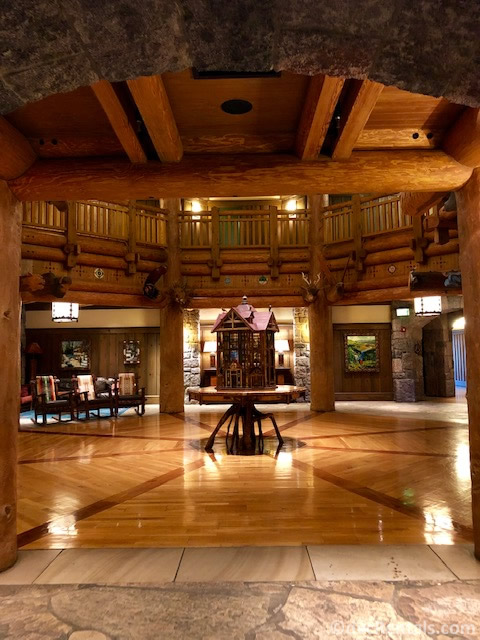 lobby of Boulder Ridge Villas Building at Disney's Wilderness Lodge