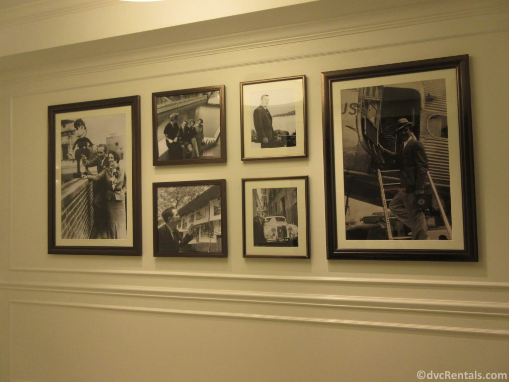 Walt Disney photos and souvenirs from his travels in Europe found throughout Disney's Riviera Resort