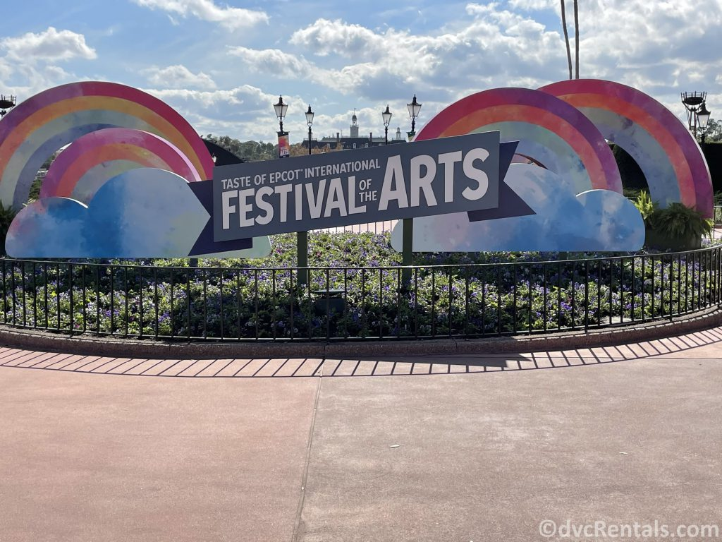 Sign for the Taste of Epcot International Festival of the Arts