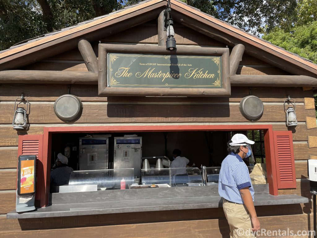 Food Booth at the Taste of Epcot International Festival of the Arts